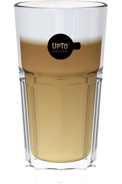 Latte Macchiato Glas zwart vol