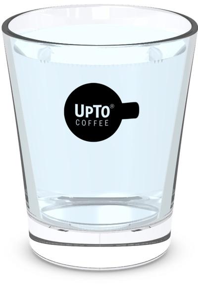 Waterglas zwart vol