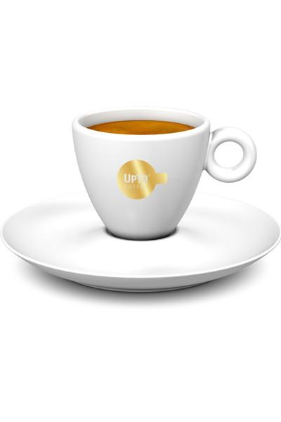 Espresso kop goud vol