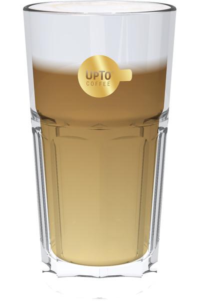 Latte Macchiato Glas goud vol