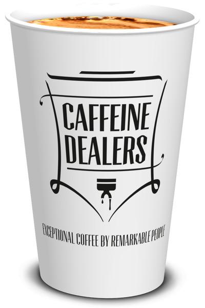 Caffeine Dealers bekers voorkant