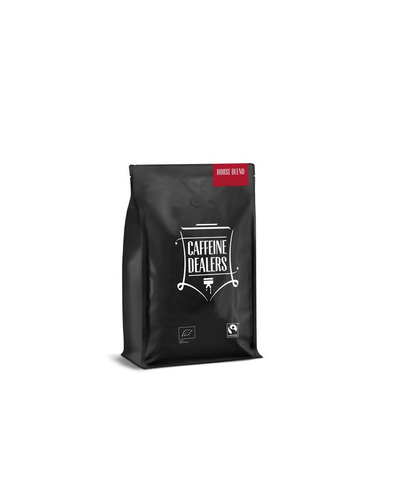 Caffeine dealers voorzijde house blend 3d 1kg 03