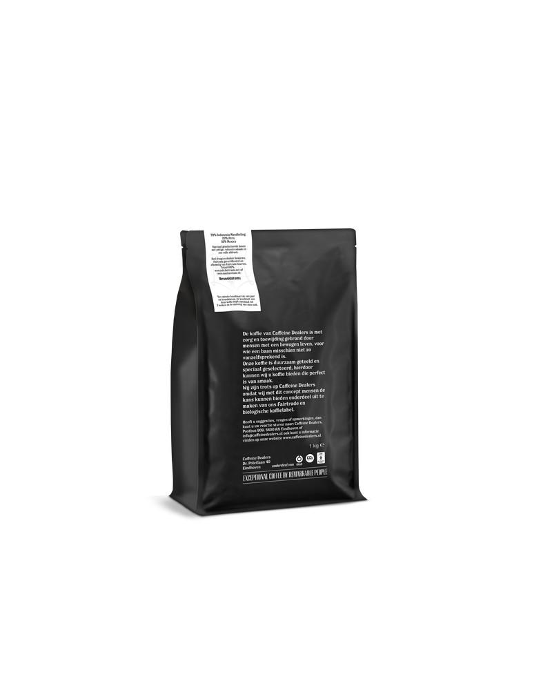 Caffeine dealers achterzijde house blend 3d 1kg 03